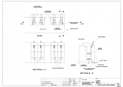 Track side cabin layout drawing clean